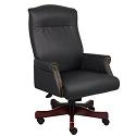 Traditional Box Arm Executive Chair by Boss