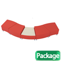 Click here for more Lounge B Squiggle Modular Soft Seating Package by Mooreco by Worthington
