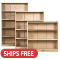 Click here for more Classic Birch Bookcases by ECR4Kids by Worthington