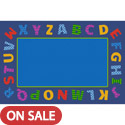 Click here for more Border Alphabet Scramble Carpet by Learning Carpets by Worthington