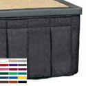Box Pleat Skirting for Portable Stages