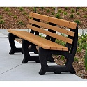 Brooklyn Outdoor Benches by Jayhawk Plastics