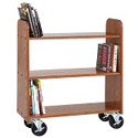 Solid Oak Book Trucks by Diversified Woodcrafts