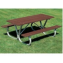 Extra Heavy-Duty Bolt-Thru Picnic Table by UltraPlay