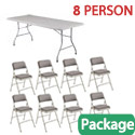 Click here for more Rectangle Folding Table & Padded Folding Chair Package by National Public Seating by Worthington