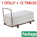 Click here for more Set of 12 Folding Tables & Dolly Package by National Public Seating by Worthington
