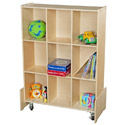 Contender Series Roll & Write Mobile Storage Bookcase by Wood Designs
