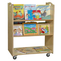 Contender Series Mobile Library Cart by Wood Designs