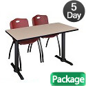 Click here for more Cain Base Training Table & M Stacker 4700 Chairs by Regency by Worthington