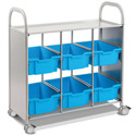 Click here for more Callero Silver Library Cart by Gratnells by Worthington