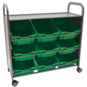 Callero Silver Tilted Tray Cart by Gratnells