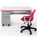 Click here for more Cascade Teacher Desk w/ Single Cabinet by Smith System by Worthington