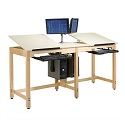 Click here for more Two-Station CPU Drafting Table by Diversified Woodcrafts by Worthington