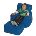 Cozy Chair and Ottoman Bean Bag Set by the Children's Factory