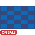 Click here for more Checker Blue Carpet by Learning Carpets by Worthington