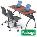 Click here for more Package Deal- Chi Flipper Seminar Table & Training Chairs by Balt by Worthington