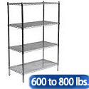Heavy Duty Chrome Wire Shelving Units by Sandusky Lee