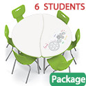 Click here for more Dry Erase Half Round Creator Table & Hierarchy Chair Packages by Mooreco by Worthington