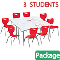 Click here for more Dry Erase Rectangle Creator Table & Hierarchy Chair Packages by Mooreco by Worthington