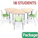 Click here for more Classroom Set - 18 Diamond Desks & Flavors Chairs by Smith System by Worthington