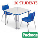 Classroom Set - 20 Wing Desks & Flavors Chairs by Smith System