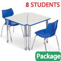 Classroom Set - 8 Wing Desks & Flavors Chairs by Smith System