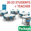 Click here for more Classroom X Complete Classroom Dry Erase Package Sets by Mooreco by Worthington