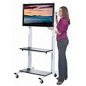 Crank Adjustable Flat Panel TV Cart by Luxor