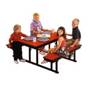 Children's Cafeteria Bench Tables by Barricks