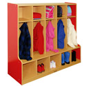 Colorful Essentials Coat Locker w/ Bench by ECR4Kids