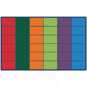 Colorful Rows Seating Rug by Carpets for Kids