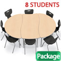 Click here for more Creator Table & Hierarchy Chair Packages by Mooreco by Worthington