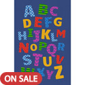 Click here for more Alphabet Scramble Carpet by Learning Carpets by Worthington