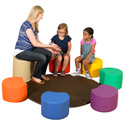 Painters Soft Seating Stool Set by The Children's Factory