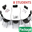Click here for more Dry Erase Creator Table & Hierarchy Chair Packages by Mooreco by Worthington