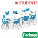 Click here for more Dry Erase Triangle Creator Table & Hierarchy Chair Packages by Mooreco by Worthington