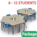 "Click here for more Classroom Set - 60"" Crescent Tables & Flavors Chairs by Smith System by Worthington"