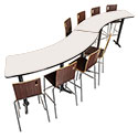 Click here for more CT Series Bar Height Curve Cafe Tables by National Public Seating by Worthington