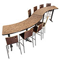 Click here for more CT Series Curve Cafe Tables by National Public Seating by Worthington