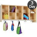 Eco Wall-Mount Cubby Coat Rack by Tot-Mate
