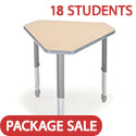 Classroom Set- 18 Diamond Desks by Smith System