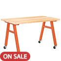 Natural Butcher Block A-Frame Tables by Diversified Woodcrafts
