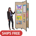 Click here for more Winged Mobile Display Tower by Screenflex by Worthington
