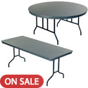Dynalite ABS Plastic Folding Tables by Amtab