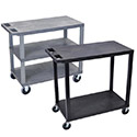 Click here for more E Series Flat Shelf Carts by Luxor by Worthington