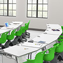 Click here for more Echo Series Dry Erase Chevron Training Tables by Haskell by Worthington