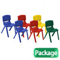 Plastic Resin Chair Assorted Packs by ECR4Kids