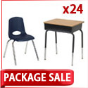 Classroom Packages- 24 Student Desk & Chair Sets by ECR4Kids