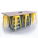 The Ed 8 Table w/8 Magnetic Stools by CEF