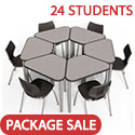 Click here for more Classroom Set- 24 Elemental Huddle Desks & Flavors Chairs by Smith System by Worthington